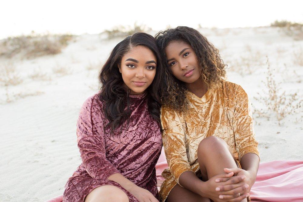 High school senior girls in Palm Springs desert