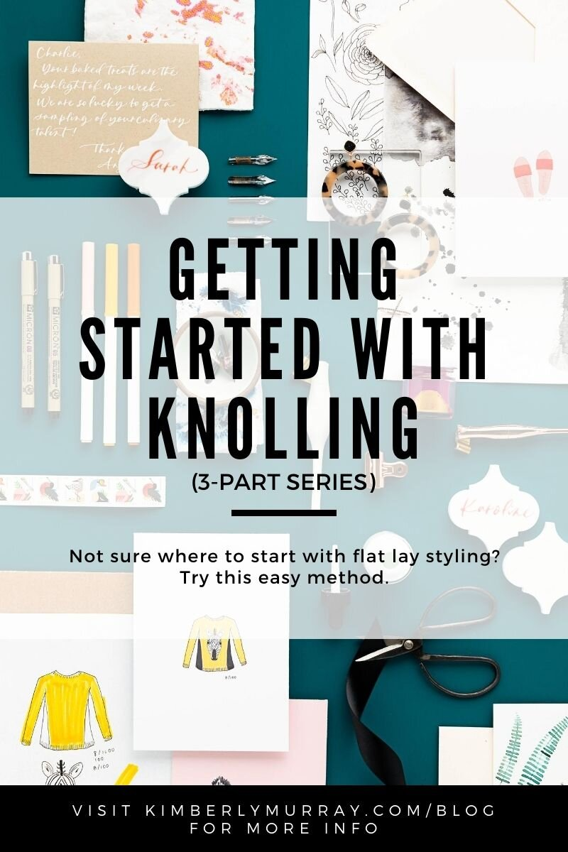 Pinterest pin for Getting Started with Knolling post